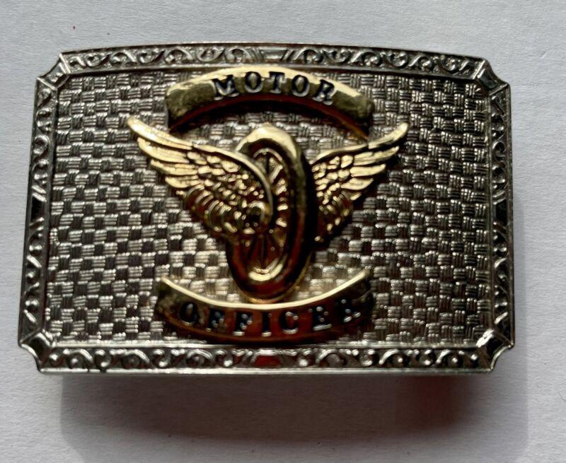 Police Motor Officer Silver Belt Buckle