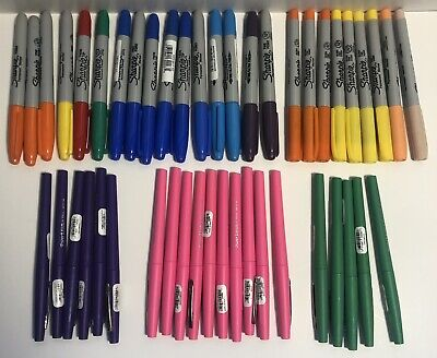 Sharpie Papermate Lot Of 46 Fine Twin Tip Ultra Fine Permanent Markers New