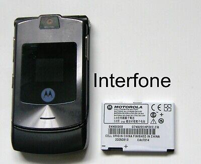 Motorola V3i Mobile Flip Phone-Locked to O2 UK-Exc.Cond-Optional Charger Bundle