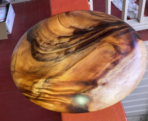 Hawaiian Curl & Swirl Koa Wood Plate Dish~ Gallery & Collector Quality (#521-1)