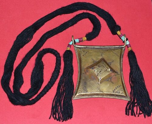 Antique Tuareg Tcherot Talisman Amulet Pendant Tribal Necklace Niger Africa