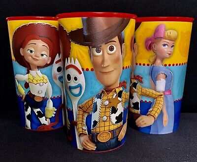 Disney TOY STORY 22 oz., Plastic Drinking Cups, Birthday Party Favor Set/3-NEW (Toy Story 3 Birthday)