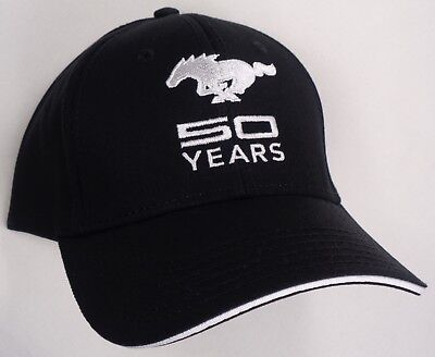New Years Hat (Hat Cap Licensed Ford Mustang 50 Years Black HR 231)