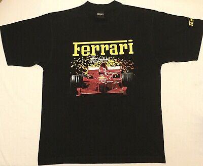 Vintage Official Ferrari 1999 Short Sleeve Black T-shirt Top Size Large.