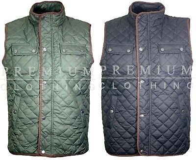 New Mens Gilet BodyWarmer Padded Micro Fleece Fleece Insulated Pipping quilted