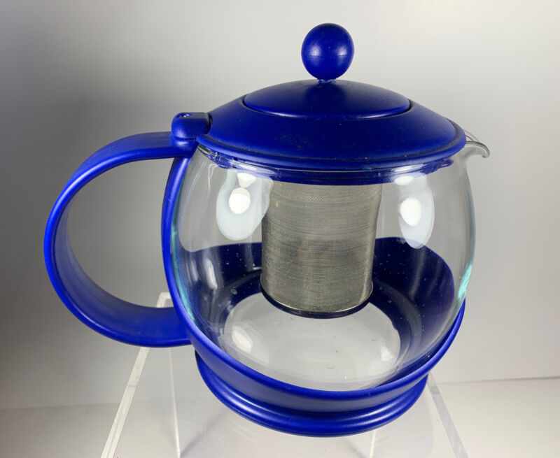 Vintage Pyrex Glass Coffee Pot Tea PotKettle W Bonjour Jacket Lid & Diffuser