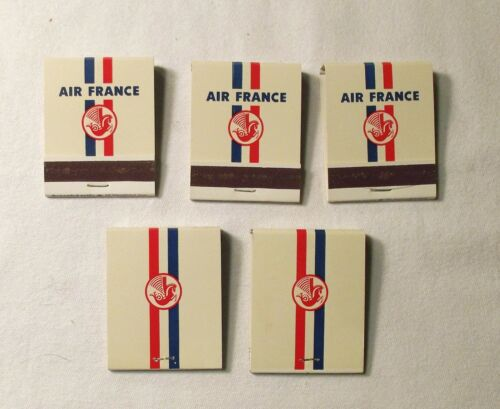 5 Air France Matchbooks