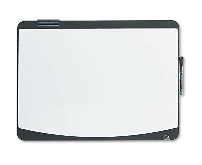 Wall Mounted White Board Dry Erase 24 X 18 Black Tack Frame Quartet
