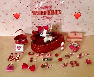 Littlest Pet Shop LPS  or Barbie Accessories Valentines 30 Pieces of Cuteness  - Valentine Accessories