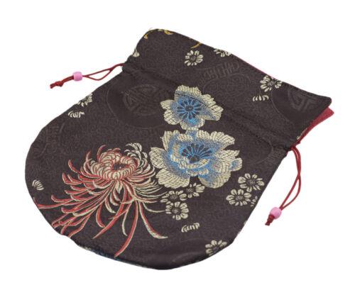 Big/Large Clutch Bag Tibetan For Mala Rosary Bourse Fabric Brocade Brown 9216