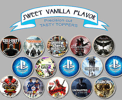 Computer Games - PS4 GTA Call of Duty Games Mixed Wafer Birthday Party cupcake cake Toppers Cup