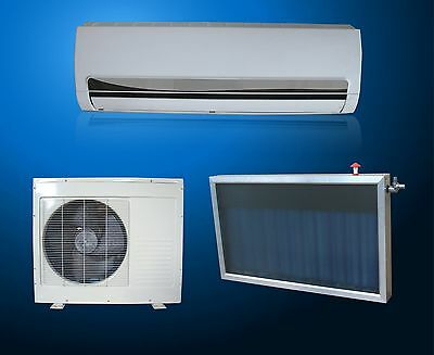 Solar Thermal Hybrid DC INVERTER Air Conditioner Heat Pump 12,000 BTU Mini Split