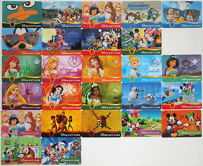 24 Disney Gift Cards 2013-2014: Princesses, Monsters Univ., Halloween, Christmas - Disney Halloween Gift Cards