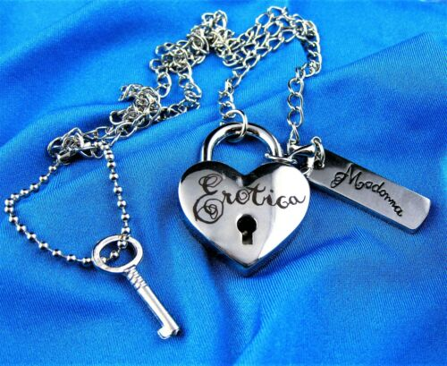 MADONNA sold out EROTICA NECKLACE HEART w KEY 25 OFFICIAL BOY TOY PROMO SEALED