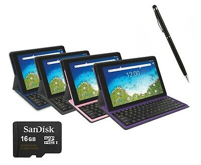 """NEW RCA Pro 10.1"""" 2-in-1 Quad Core Tablet 32GB + Keyboard Case + 16GB SD + Pen"""
