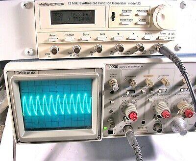 Wavetek 12 Mhz Synthesized Function Generator Model 23
