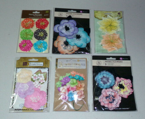 Lot of Prima Flowers - 6 Packs