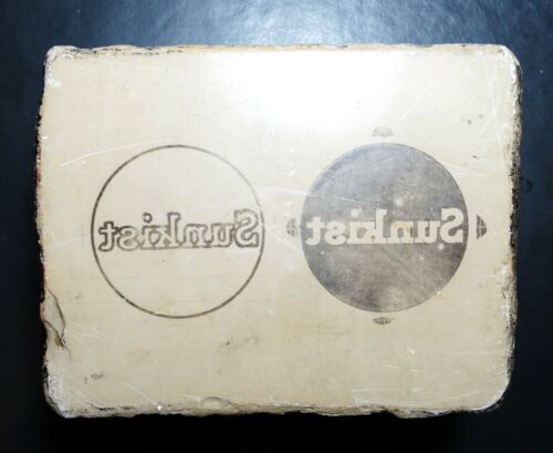 Lithograph Printing (Vintage) Stone Block (Reduced Price)