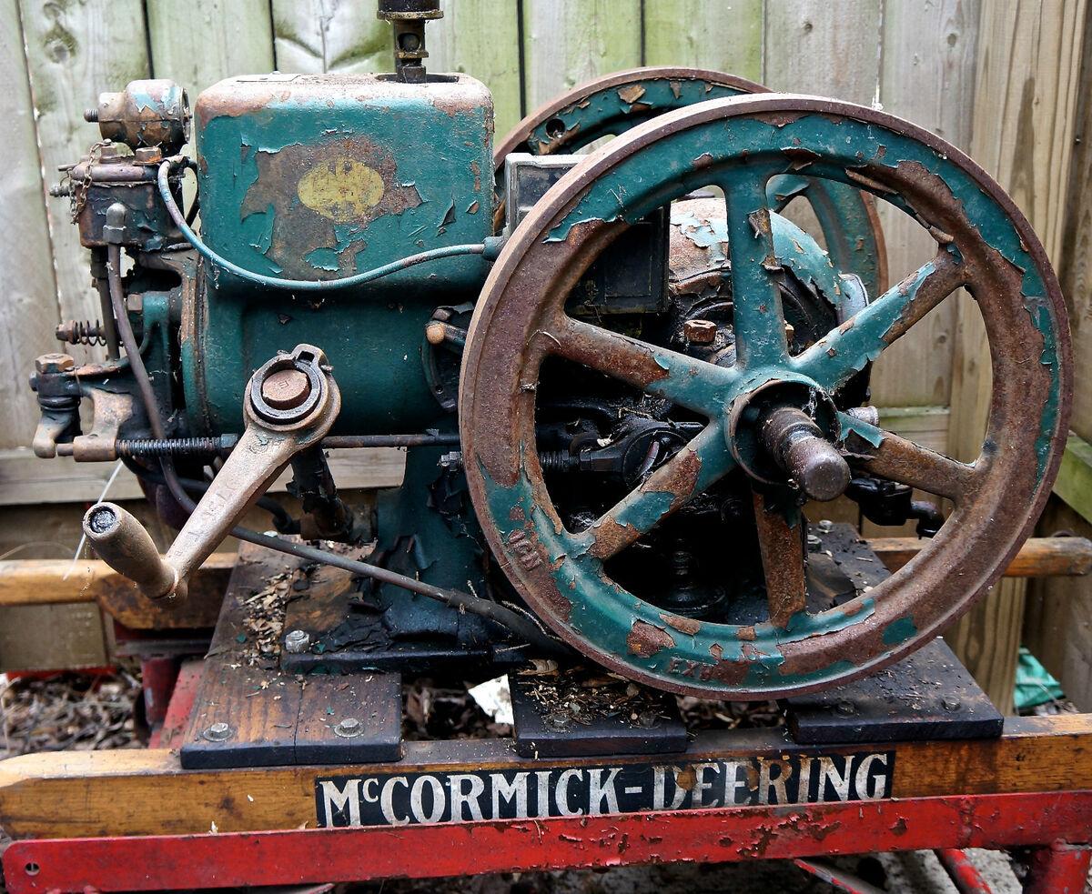 Vintage McCormick Deering International Harvester 1 1 2HP Hit Miss Engine