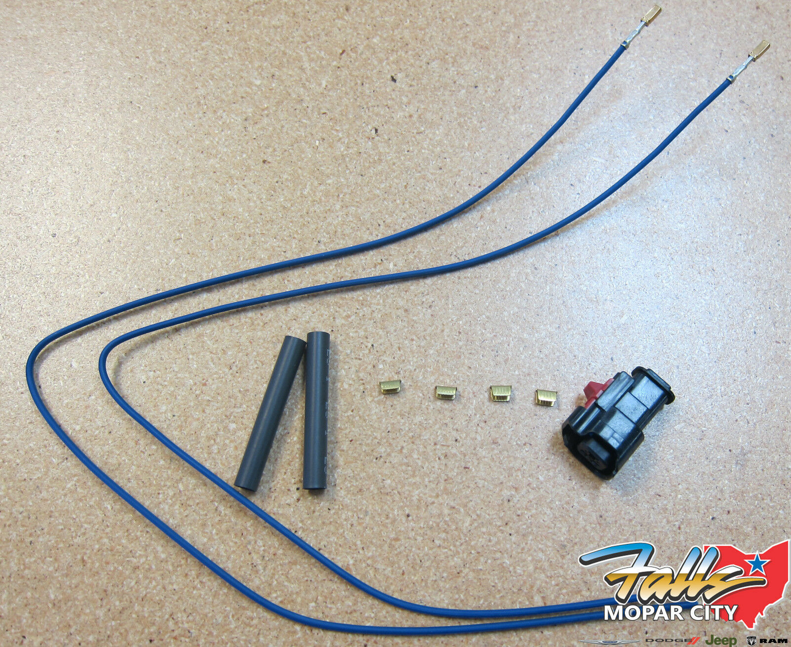 1994 2000 Chrysler Dodge Horn Connector 2 Way Wiring Kit Mopar Oem
