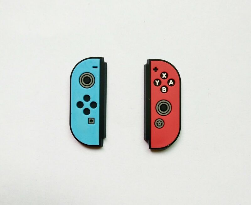 Nintendo Switch Style Charm Set compatible with Crocs Shoe Bracelet Wristband
