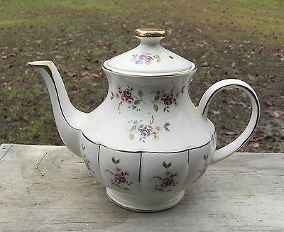 Nice Vintage Arthur Wood Floral Teapot Made in England-rose flowers