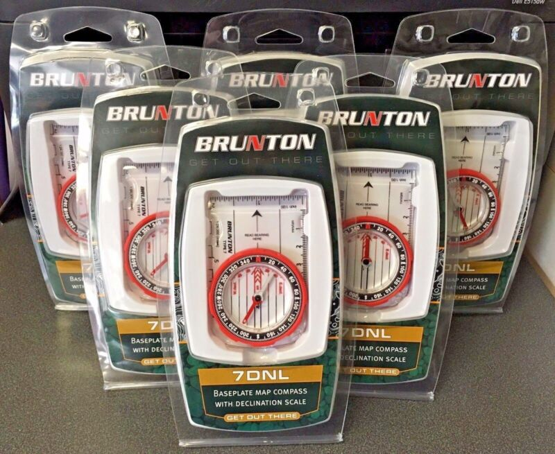 Brunton 7DNL Baseplate Map Compass With Declination Scale (6 Compasses)