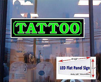 Tattoo Led Illuminated Sign 48x12 Window Sign Flat Panel Led Signs