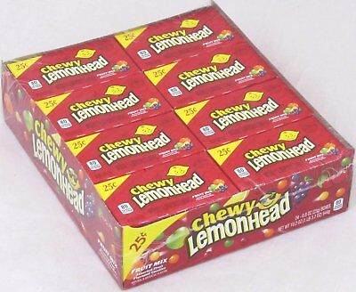 Chewy Lemonheads Fruit Mix Candy Lemonhead Lemon Head Candies Bulk 24 Count Box