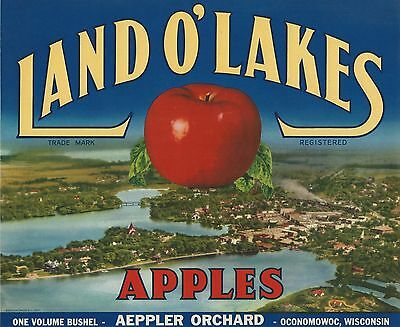 Hamilton Montana Mountain Valley Apple Fruit Crate Label Art Print