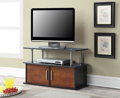 Designs2Go Deluxe 2 Door TV Stand with Cabinets 151165CH, Cherry Finish