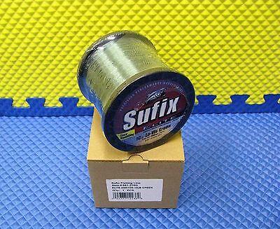 Sufix Elite 8lb Hi-Vis Yellow Monofilament Fishing Line 3000 YD Spool  661-308Y