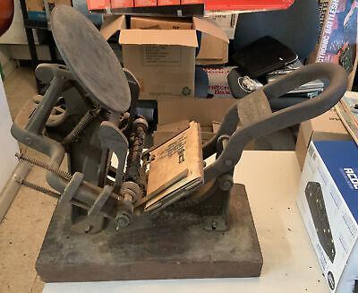 Antique Kelsey 3x5 Letterpress Printing Press Excelsior Old Vintage Meriden Ct