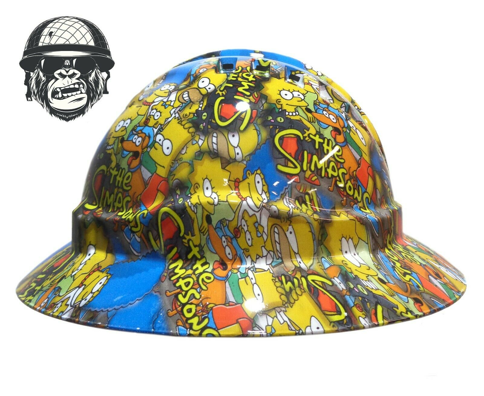 Custom Hydrographic Safety Hard Hat Construction Mining - SIMPSONS WIDE