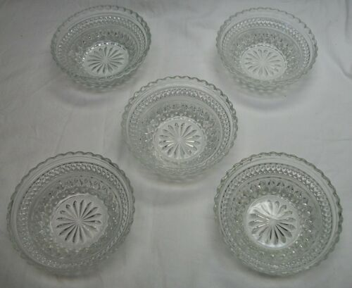 "5 VINTAGE WEXFORD 5 3/8"" BOWLS / BERRY DISHES"