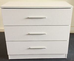 3 drawer cabinet / large chest drawer - white ( + delivery) Melbourne CBD Melbourne City Preview