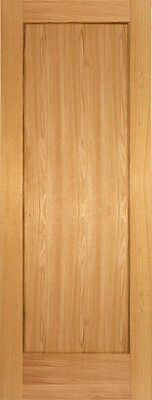 1 Panel Red Oak Flat Mission Shaker Stain Grade Solid Core Interior Wood Doors for sale  USA