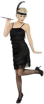 Ladies 20s Fringe Flapper Costume Fancy Dress 1920s Retro Dancer Womens - Fringe Flapper Kleid Kostüm