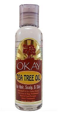 Okay Tea Tree Oil For Hair  Scalp   Skin  2 Oz
