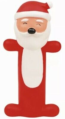 Christmas Dog Puppy Toy Squeaky Santa Novelty Character Gift Chew