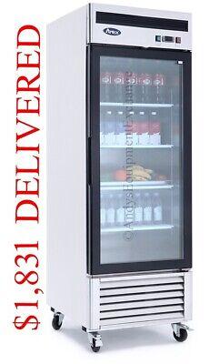 Single 1 Glass Door Commercial Refrigerator Cooler Merchandiser Store Display