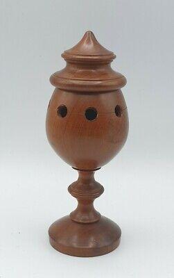 Vintage Yew Wood Turned Potpourri Incense / Censer