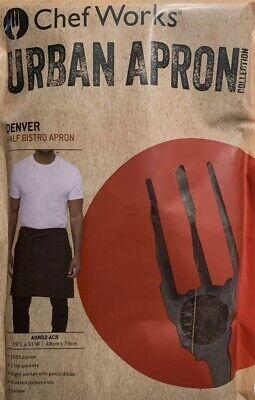 Chef Works Unisex Urban Apron Denver Half Bistro Apron Brown One Sizeahn02-acr