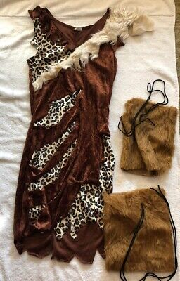 Costumes For 4 (Cave woman costume - Woman's Size Small (2-4)  W/ Fuzzy Coverups For)