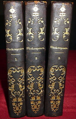 Shakespeare By Gervinus 1849 3V 1Sted German Biography  Margarete Ladenburg