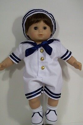 NAVY BLUE Sailor Suit Doll Clothes w/SHOES SOCKS & HAT For Bitty Baby Boy (Debs)](Navy Blue Suits For Boys)