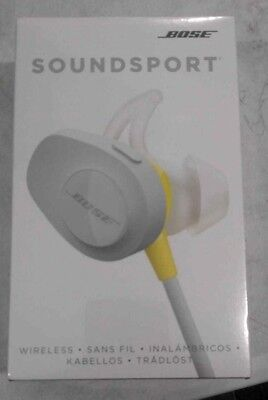 FACTORY SEALED BOSE SOUNDSPORT WIRELESS IN-EAR HEADPHONE CITRON 761529-0030 !!