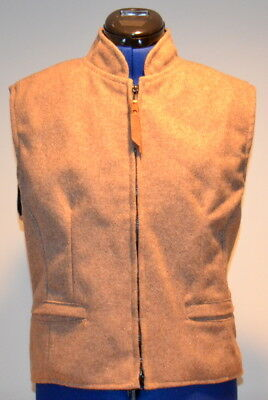SCHAEFER Outfitter Cheyenne Ranchwear Women's Vest (Taupe) Medium Made in USA