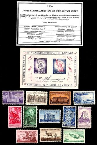 1956 COMPLETE YEAR SET OF MINT -MNH- VINTAGE U.S. POSTAGE STAMPS