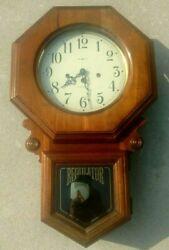 Vintage Howard Miller Westminster Regulator Wall Hanging Clock Pendulum Antique
